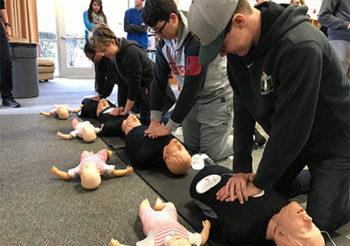 CPR Class at Rio Americano High School